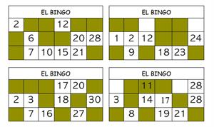 Bingo de potencias y raíces (Grupo MAYRIT)