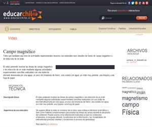 Serie Física Entretenida: Campo magnético (Educarchile)