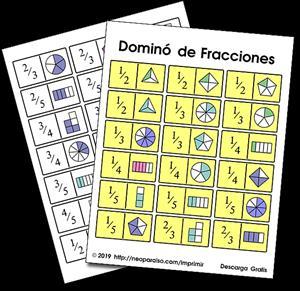 Dominó de fracciones (neoparaiso.com)