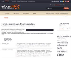 Turismo astronómico. Cerro Mamalluca (Educarchile)