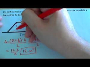 Problema de calcular el área y el perímetro de un trapecio