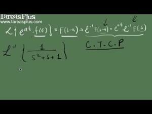 Transformada inversa de laplace y el primer teorema de traslación (Tareas Plus)