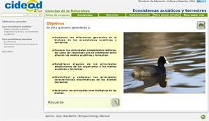 Ecosistemas acuáticos y terrestres (cidead)