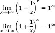 Indeterminación 1 elevado a infinito, con ejemplos