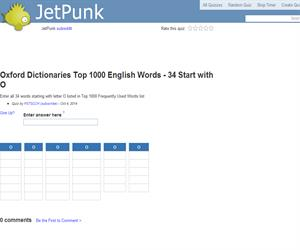 Oxford Dictionaries Top 1000 English Words - 34 Start with O