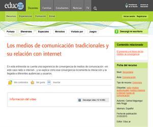 Medios tradicionales web