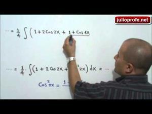 Integral de la cuarta potencia del coseno (JulioProfe)