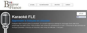 Karaoké FLE. Apprendre le français en chanson
