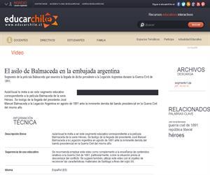 El asilo de Balmaceda en la embajada argentina (Educarchile)