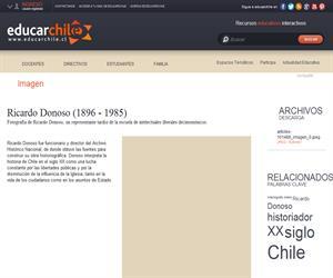 Ricardo Donoso (1896 - 1985) (Educarchile)