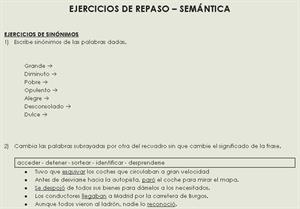 Ejercicios de repaso de Semántica