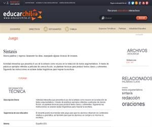 Sintaxis (Educarchile)