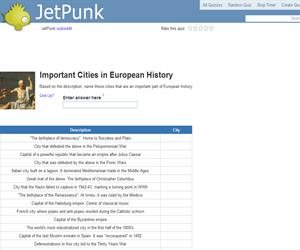 Important Cities in European History