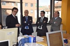 El Presidente del Gobierno de La Rioja, Jose Ignacio Ceniceros, visita la empresa tecnológica riojana GNOSS. 12 de diciembre 2016.