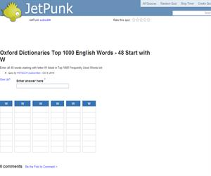 Oxford Dictionaries Top 1000 English Words - 48 Start with W