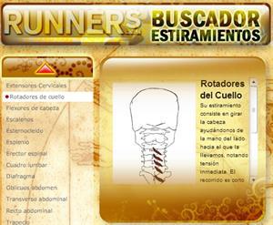 Runners. Buscador de estiramientos