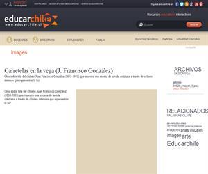 Carretelas en la vega (J. Francisco González) (Educarchile)