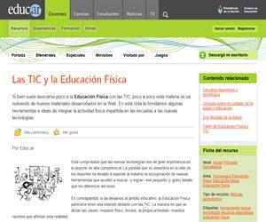 Las TIC y la Educación Física