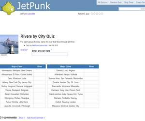 Rivers by City Quiz