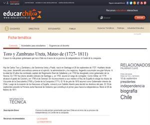 Toro y Zambrano Ureta, Mateo de (1727- 1811) (Educarchile)