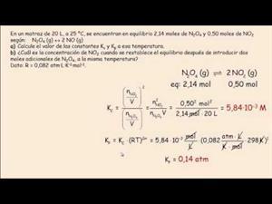Equilibrio químico: Cálculo de Kc y Kp.  Cibermatex