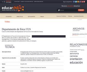 Departamento de física ULS (Educarchile)