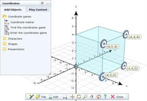 Coordenadas matemáticas. Mathematics - Coordinates. Yenka