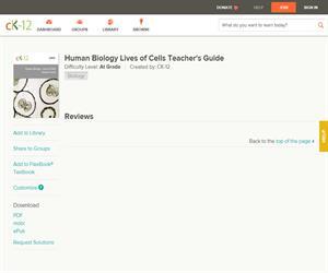 Human Biology Lives of Cells Teacher's Guid?
