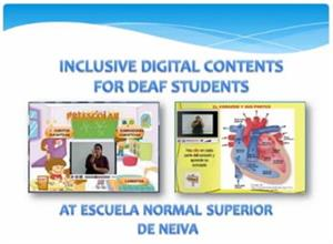 Contenidos digitales inclusivos para estudiantes sordos