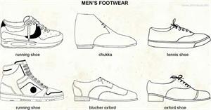 Men's footwear  (Visual Dictionary)