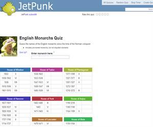 English Monarchs Quiz