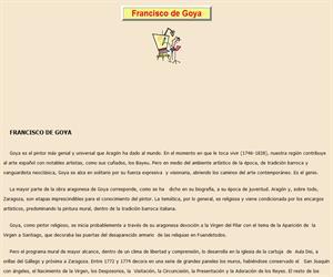 Francisco de Goya, lectura comprensiva interactiva