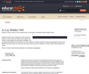 La Ley Maldita 1948 (Educarchile)