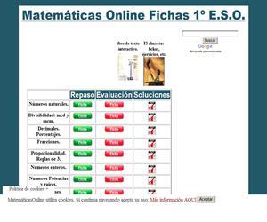 Temario de Matemáticas para 1º ESO