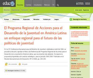 El Programa Regional de Acciones para el Desarrollo de la Juventud en América Latina: un enfoque regional para el futuro de las políticas de juventud
