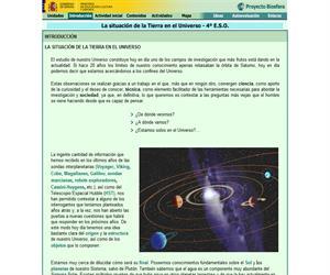 La situación de la Tierra en el universo (Proyecto Biosfera)