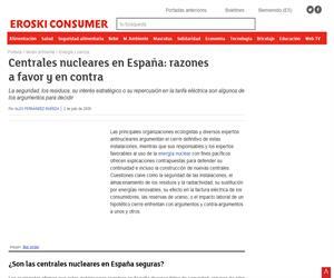 Centrales nucleares en España: razones a favor y en  contra