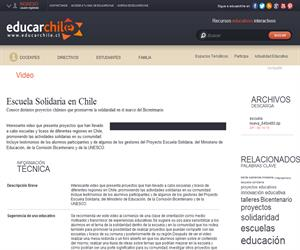 Escuela Solidaria en Chile (Educarchile)