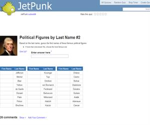 Political Figures by Last Name 2