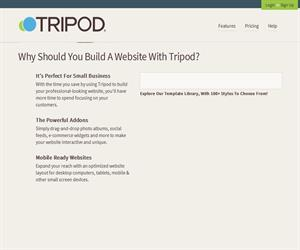 Tripod: Excellent web hosting, domains, e-mail and an easy website builder tool