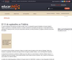 El 11 de septiembre en Valdivia (Educarchile)