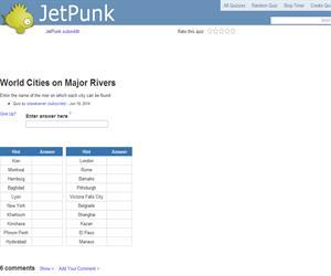 World Cities on Major Rivers