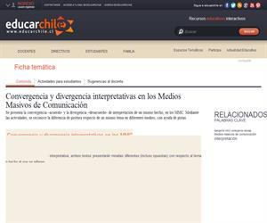 Convergencia y divergencia interpretativas en los Medios Masivos de Comunicación (Educarchile)