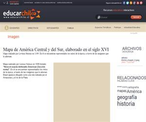 Nova et exacta delineatio Americae (Sección norte) (Educarchile)