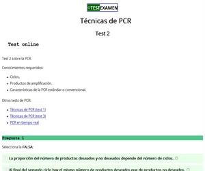 Test (2) sobre la PCR