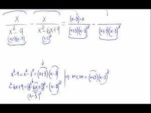 Resta de fracciones algebraicas