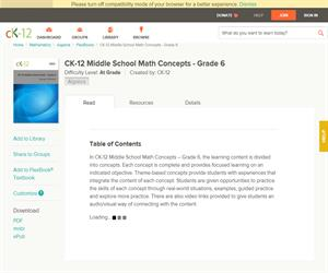 CK-12 Middle School Math Concepts - Grade ? At grade