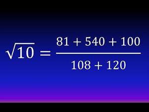 Cálculo fácil de una raíz cuadrada (Método hindú, Bakhshali) (Ejemplo 2)