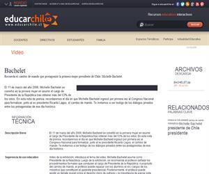 Bachelet (Educarchile)