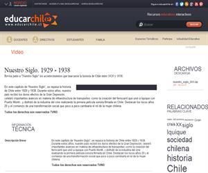 Nuestro Siglo. 1929 - 1938 (Educarchile)